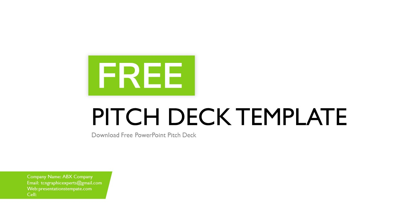 free pitch deck templates and powerpoint presentations template. Black Bedroom Furniture Sets. Home Design Ideas