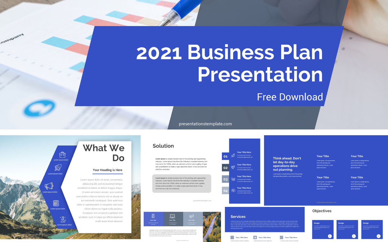 2021 Business Plan Powerpoint Template Free Updated 2021 Presentations Template