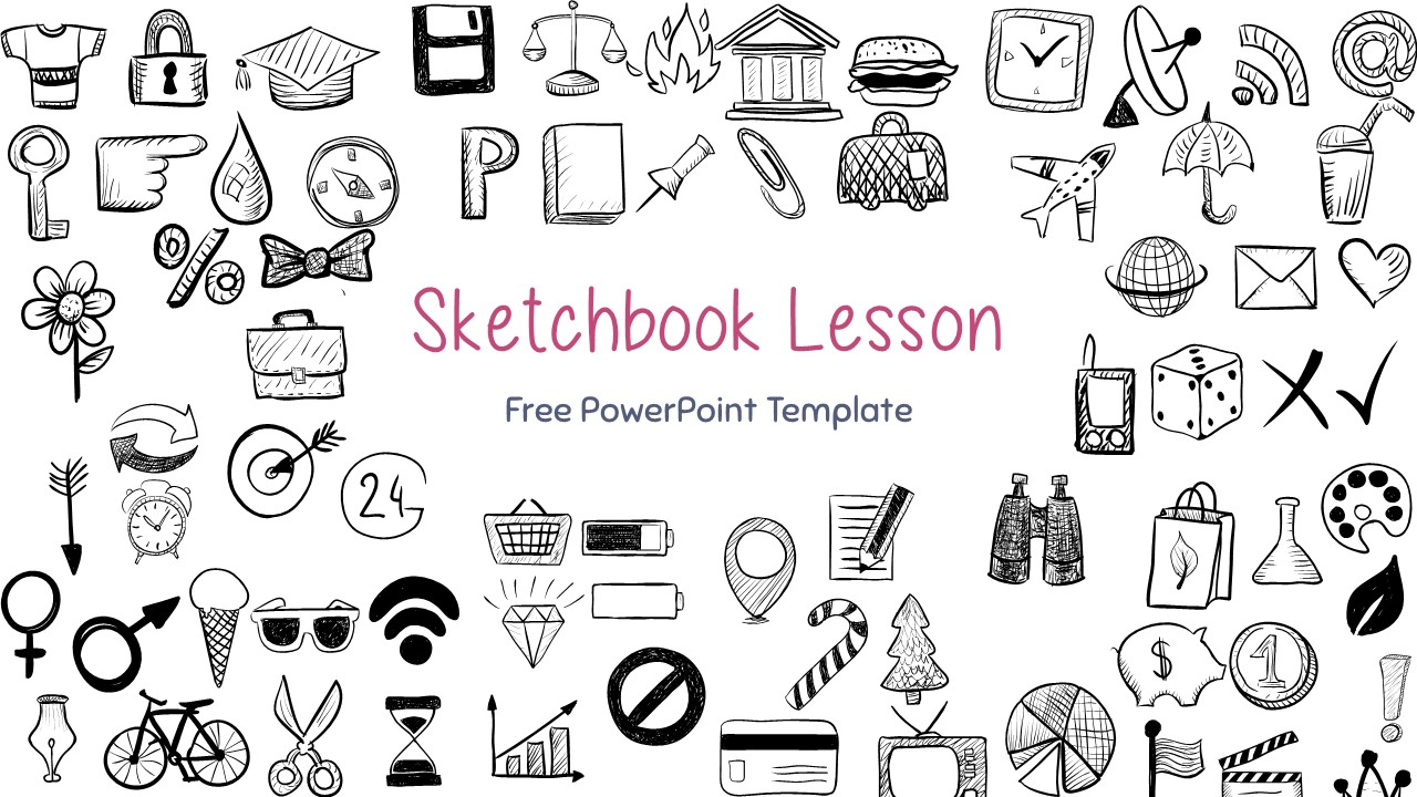 Sketchbook Lesson Powerpoint Template For Google Slides Free Presentations Template